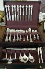 Eighty-Two (82) Piece Gorham English Gadroon Sterling Silver Flatware Service