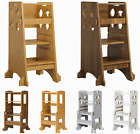 Durable Toddler Kid Helper Stool Height Adjustable Tower for Kitchen Step Ladder