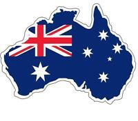 Sticker adesivi adesivo auto moto bandiera australia mappa