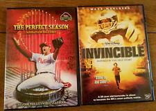 2 Sports DVD's Invincible & The Perfect Season Free Shipping Baseball Football