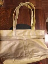 Large Butter Shimmery Compartment Tote