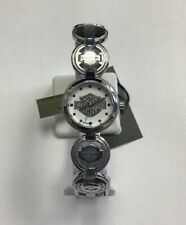 BULOVA Women's Harley-Davidson Coin Link Collection Stainless Steel WATCH 76L145
