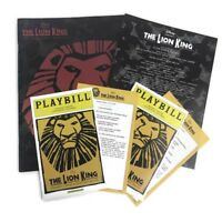 2002 Disney The Lion King Broadway Play Theatre Souvenir Program and 2 Playbills
