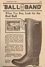 1920 AD.(XF12)~MISHAWAKA WOOLEN MFG. CO. IND. BALL BAND RUBBER FOOTWEAR