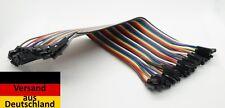 40 Pins GPIO Kabel Jumper Kabel 2.54mm F->F 20cm , Raspberry Pi , Arduino