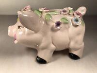 Vintage Pink Ceramic Piggy Bank Pig 5 x 3.5 Inches