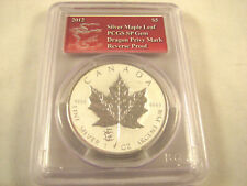 2012 $5 Silver Maple Leaf with Dragon Privy Mark PCGS SP Gem Reverse Proof