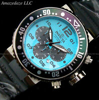 NEW Invicta Men Pro Diver VD53 Chronograph OCEAN BLUE DIAL Stainless St. Watch