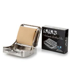 AUTOMATIC CIGARETTE TOBACCO ROLLING MACHINE METAL BOX TIN ROLL UP MAKER Silver