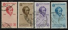 Italy SC# 349-352, Used, Hinge Remnants - S4236