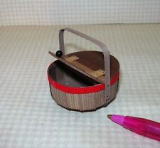 Miniature Chandronnait Vegetable Basket, 2-Sided & Red Trim #2: DOLLHOUSE 1/12