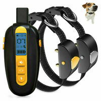 Rechargeable Dog Shock Collar 600m Remote Waterproof Electric Anti Bark Training