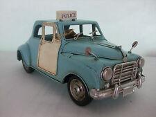 VINTAGE Bacterium vecchia auto della polizia Blu/piatto in stagno modello/ornamento/Regalo/