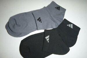 adidas SPORT mens athletics LOW-CUT 2pair soft knit casual GRAY socks:7-12