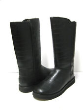 UGG ABREE II CROC WOMEN TALL BOOTS LEATHER BLACK  US 12 /UK 10.5 /EU 43
