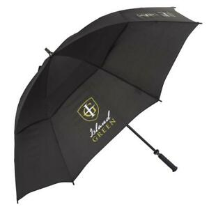 """Island Green 60"""" Outdoor Waterproof Vented Double Canopy Large Golf Umbrella"""