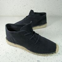 Dolce Vita DV Size 7 M Suede Leather Espadrille Shoes Lace Up Navy Perforated