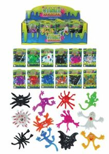 12 x Sticky Creatures Stocking Filler Toy Assorted Kid Toy Xmas Party Bag Filler