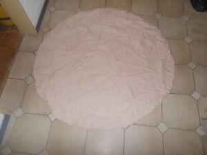 Tischdecke Tisch Decke Rund Rosa Rose weiße Sterne Ø 142 cm 100% Baumwolle