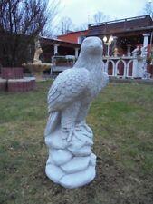 Gartenfigur, Adlerfigur, Steinstatue H.60 cm Steinguss, Vögel, Tiere, Gartendeko