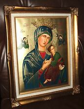 OUR LADY OF PERPETUAL HELP Wood FRAMED Print 16 x 19 3/4 in  NEW PASSION MARY
