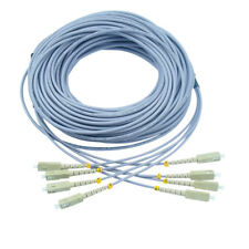 200M Armored SC-SC 1G Multimode 4 Strands Fiber Optic Cable 62.5/125 Patch Cord