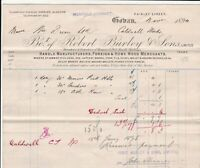 Bo.t of Robert Burley & Sons Limited Coban 1894 Manfs. & Mercs Invoice Ref 40714