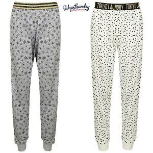 Women's Tokyo Laundry Lounge Pants Lightweight Cotton Soft Touch Jogger Bottoms