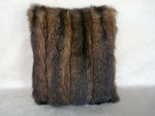 """1 BROWN OPOSSUM FUR PILLOW 12 1/2"""" by 14 1/2""""  FREE USA SHIPPING"""