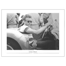 James Dean Sat In Car Fine Art Print. 50s Movie Icon Poster Wall Decor