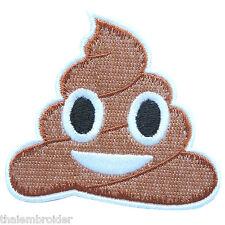 SH?T SH*T Dookie Poop Joke Ice Cream Cone Smiley Smile Iron on Patches #C045