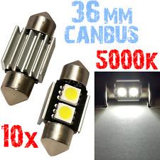10x Bollen Festoen 36mm 5000K LED 2x5050 Wit Licht Number Plate 12V! 2B9 2B9-A X