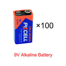100 Pack 9V 6Lr61 Alkaline Batteries Replace 6F22 for Wireless microphone Pkcell