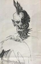 Dominique LEBLANC né en 1959.L'Iroquois.Dessin à l'encre.SBG.1986.28x17.