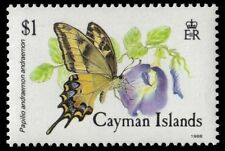 "CAYMAN ISLANDS 593 (SG666) - ""Papilio andreaemon"" Butterfly (pf8672)"