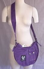 Authentic Belstaff Banana Bag Brand New Cross Body Belflex Violet Purse NWT