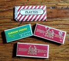 LOT OF 4 Vintage RAZOR BLADE 3 BX DURHAM ENDERS 5 BLADES EA 1 BX PLAYTEX 2 BLADE