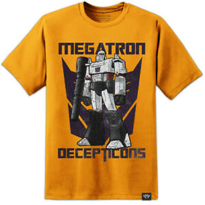 Mens TRANSFORMERS Megatron G1 Decepticons T Shirt Autobots Retro Distressed Logo