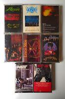 80s Metal Cassette Lot 8 Motley Crue Skid Row Poison Ratt Dokken Tesla Lynch Mob