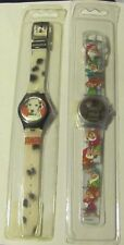 Character Watches (2) 1 Seven Dwarfs (Hologram) + 1 101 Dalmations - 1990's