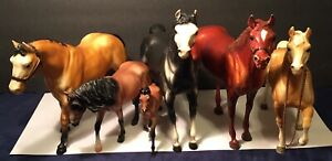 Lot Of 6 Assorted Vintage Breyer Molding Co Lot Horses Animals Collectible