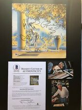 """Moody Blues Rare! """"The Present"""" signed by 4 album cover Beckett  BAS cert PROOF!"""