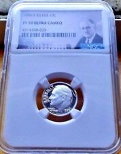 1996-S NGC PF70 ULTRA CAMEO SILVER ROOSEVELT DIME  .10C BRIGHT WHITE & CLEAN