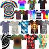 3D Optical illusion T-Shirt Swirl Women Men Funny Summer Short Sleeves Tee Tops
