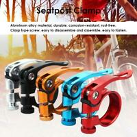 Aluminum Alloy 31.8mm Seatpost Clamp Quick Release MTB Bike Seat Post Tube Clip