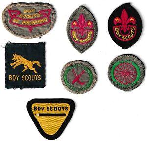 Boy Scout 7 Vintage Badges