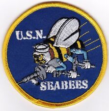 NAVY - SEABEES U.S.N. - IRON ON PATCH