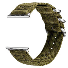 VIGOSS Bands for Apple Watch 44mm Band 42mm, Woven Nylon NATO iWatch Bands Soft
