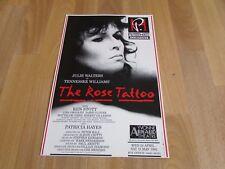 Julie WALTERS & Ken STOTT in the ROSE Tattoo 1991 Yvonne ARNAUD Theatre Poster
