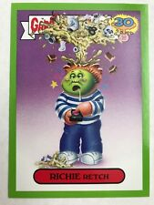 Garbage Pail Kids 2015 Series 2 30th #2a RICHIE RETCH Don't Push My Button GREEN
